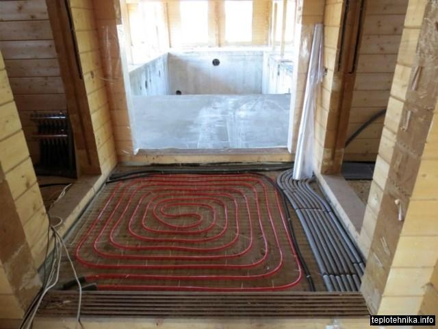 трубопроводы радиаторного отопления в изоляции