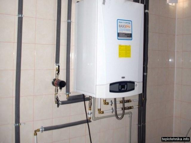 котел с встроенным бойлером, система рециркуляции горячей воды