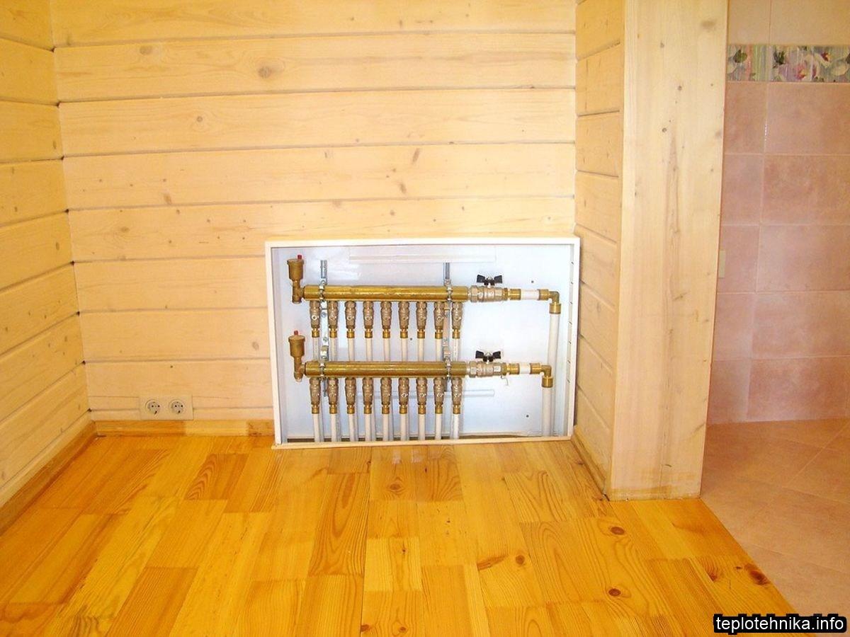 распределительный коллектор лучевой системы отопления