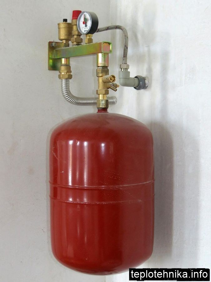 группа безопасности отопления с расширительным баком со сливом в канализацию
